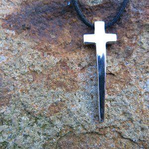 NEW Modern Design Sterling Silver Cross Pendant